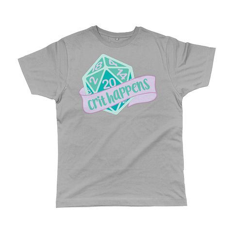 Crit Happens Men's T-Shirt | Grey