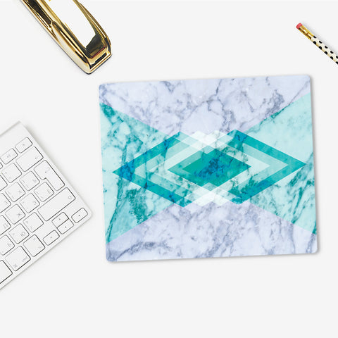 Geometric Marble Mouse Pad