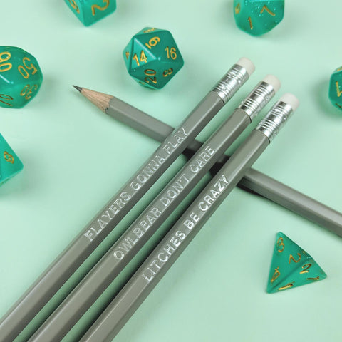 D&D Monster Pencil Set | Grey