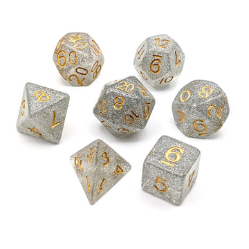 Flash Silver | Dice Set
