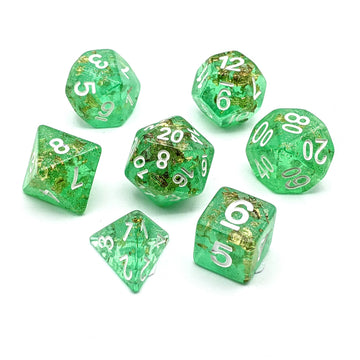 Midas Touch in Green | Dice Set
