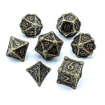 Crypt Metal Dice Set | Aged Bronze