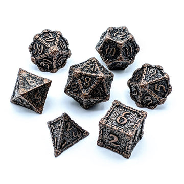 Crypt Metal Dice Set | Aged Copper