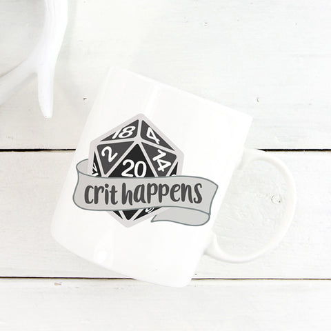 Crit Happens Dice Mug