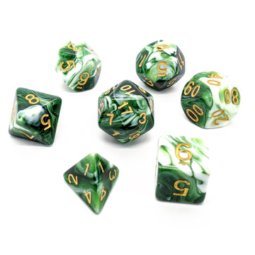 Green Marble | Dice Set