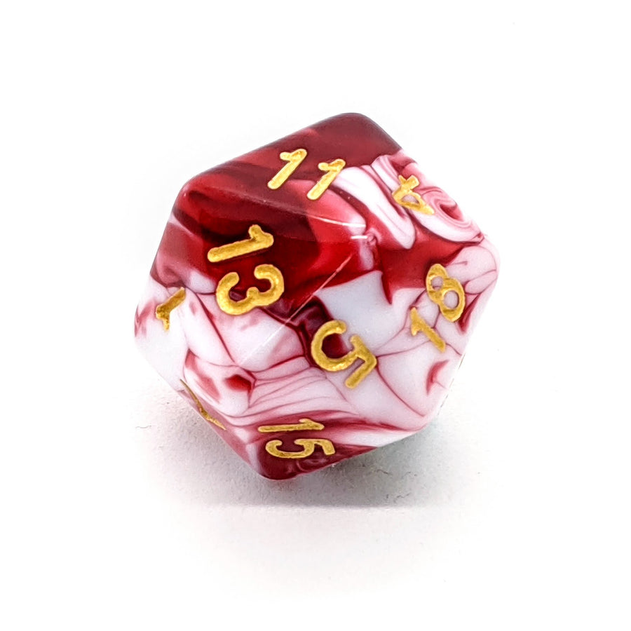 Red Marble | Dice Set