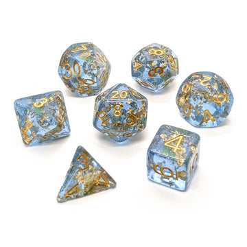Midas Touch in Blue | Dice Set
