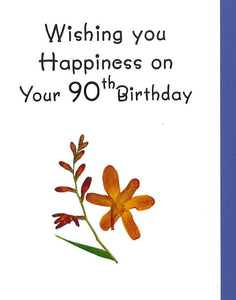 Mass card for 90th Birthday (RP62g 90yr)