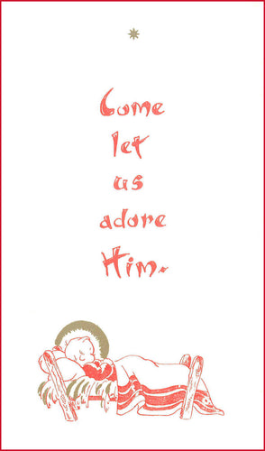 C11 Pack 5 Christmas Cards (Come Let Us Adore ~ Infant)