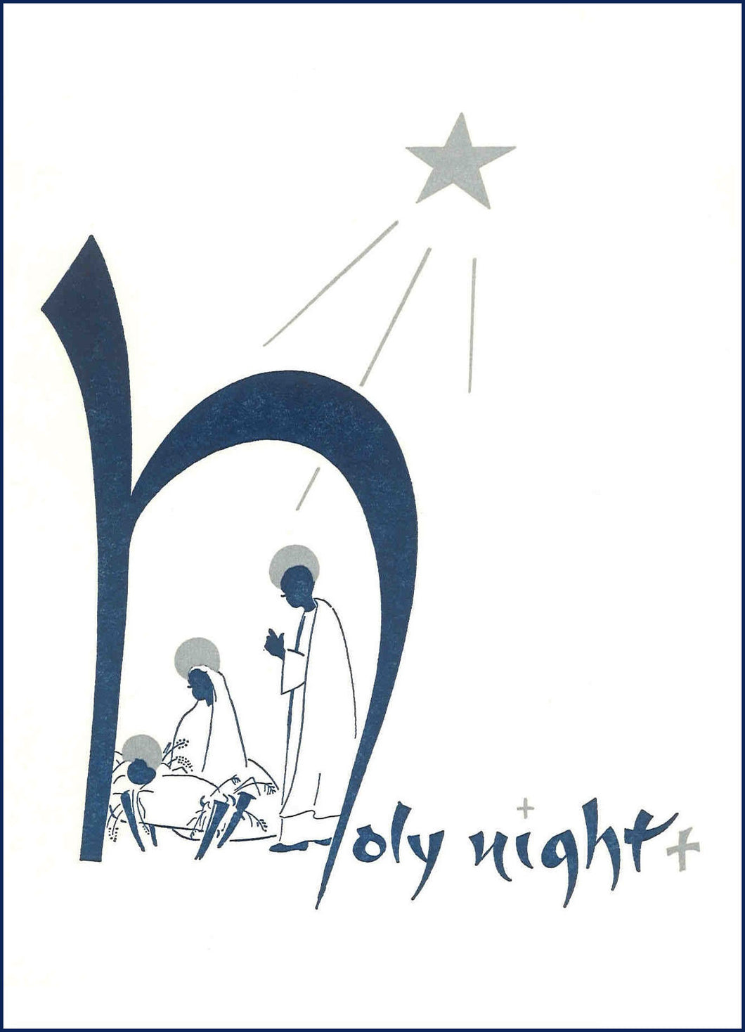 C13 Pack 5 Christmas Cards (Holy Night)
