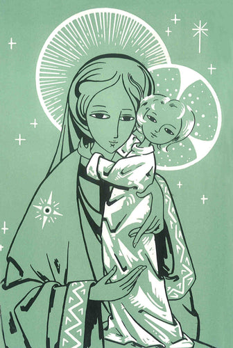 C20 Pack 5 Christmas Cards (Virgin and Child)