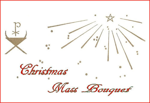 C26 Christmas Mass Bouquet Card
