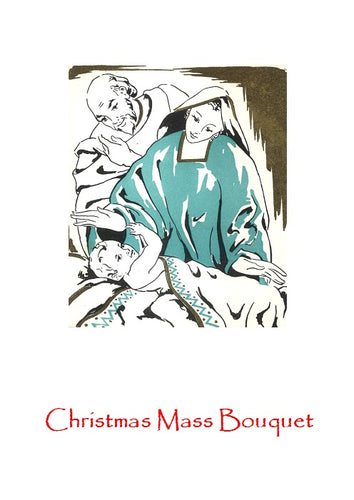 C37 Christmas Mass Bouquet Card (Holy Family)