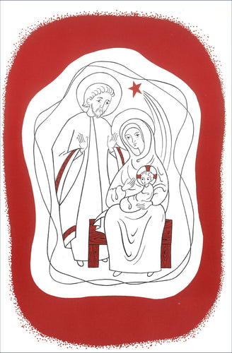C28 Pack 5 Christmas Cards (Holy Family)