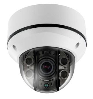 4MP VandalProof Outdoor IP Dome Security Camera with 2.8-12mm VariFocal Lens and Night Vision