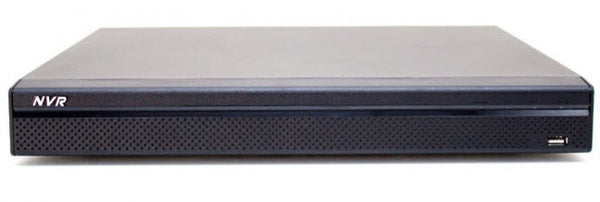 16 Channel NVR  with 8 Built in PoE Ports.  4K Capable with H.265 and H.264 compression.  8 Terabyte hard drive Included - 247 Security Cameras