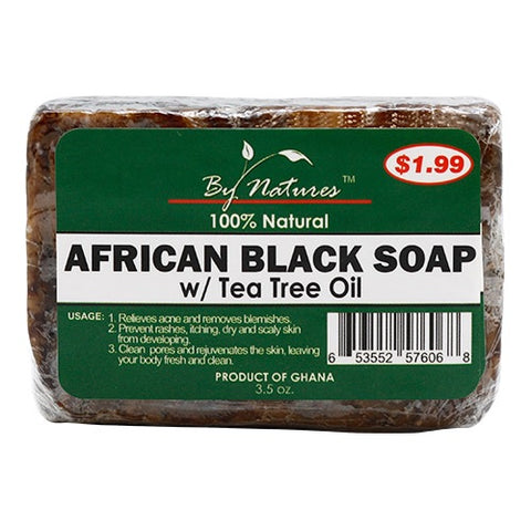 BY NATURES African Black Soap w/ Tea tree oil
