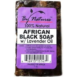 BY NATURES African Black Soap w/ Lavender Oil