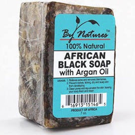 BY NATURES African Black Soap w/ Argan Oil