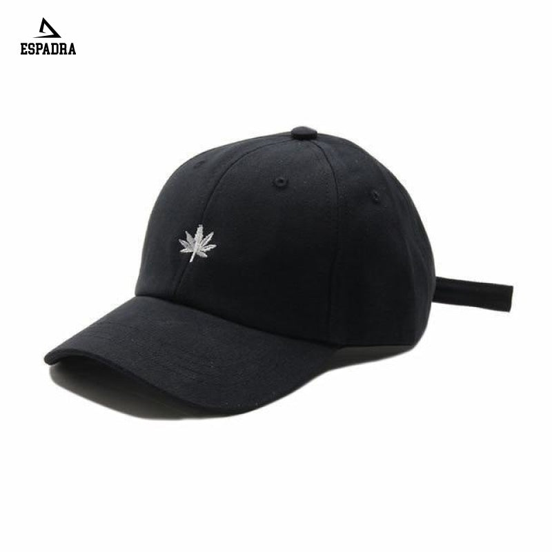 Maple Leaf Embroidery Baseball Cap Black / One Size