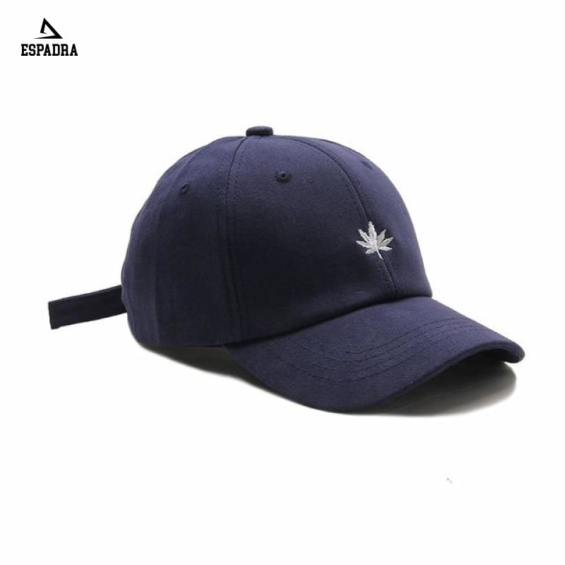 Maple Leaf Embroidery Baseball Cap Blue / One Size