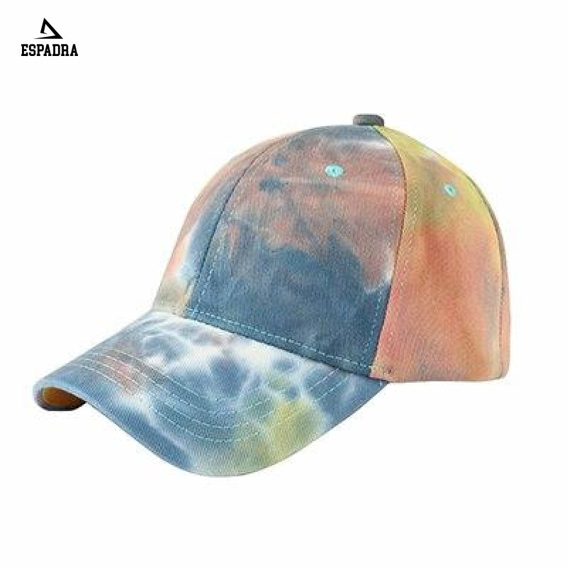 Tie Dye Harajuku Baseball Cap Orange / One Size