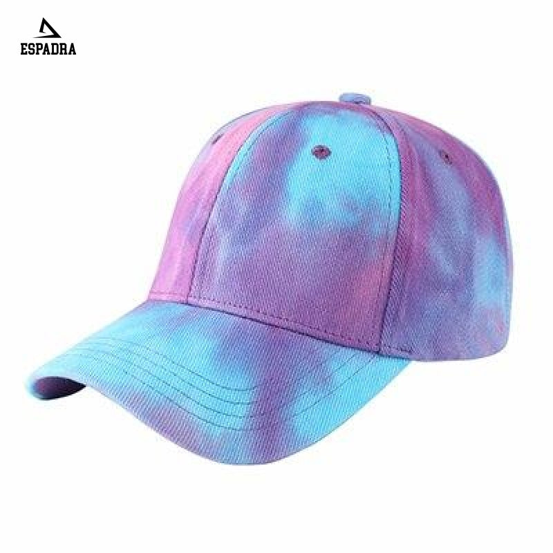 Tie Dye Harajuku Baseball Cap Purple / One Size