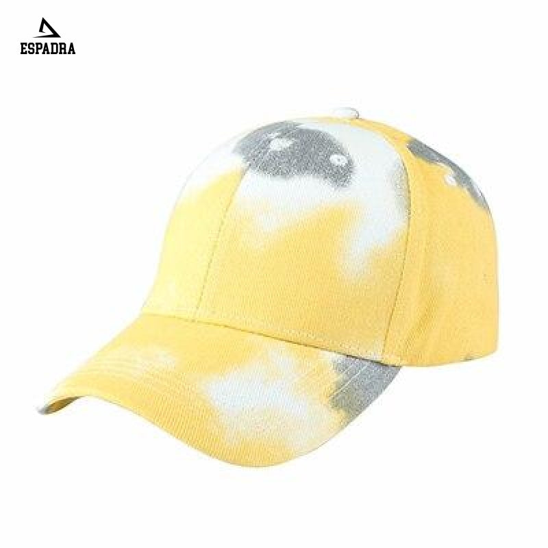 Tie Dye Harajuku Baseball Cap Yellow / One Size
