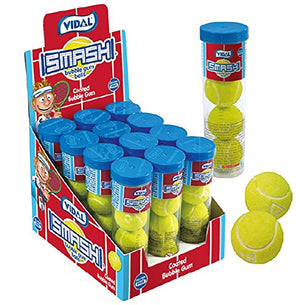 Sour Bubblegum Tennis Ball Tube Confection - Nibblers Popcorn Company