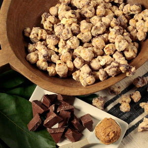 Peanut Butter Chocolate Popcorn - Nibblers Popcorn Company