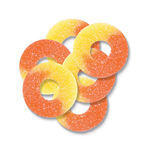 Gummy Peach Rings Confection - Nibblers Popcorn Company