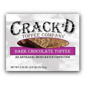 Crack'd Toffee - Dark Chocolate Confection - Nibblers Popcorn Company