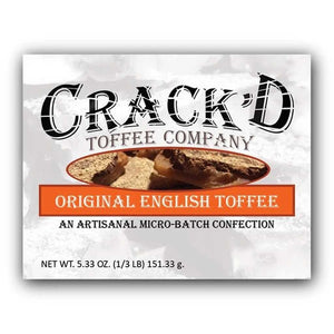 Crack'd Toffee - Original English Toffee Confection - Nibblers Popcorn Company
