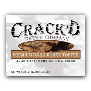 Crack'd Toffee - Premium Dark Roast Confection - Nibblers Popcorn Company