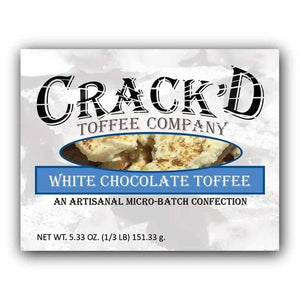 Crack'd Toffee - White Chocolate Confection - Nibblers Popcorn Company