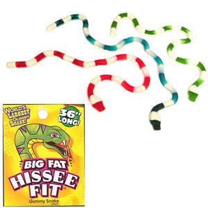Hissee Fit Giant Gummy Snake Confection - Nibblers Popcorn Company