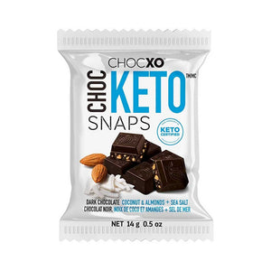 Dark Chocolate Keto Snaps Confection - Nibblers Popcorn Company