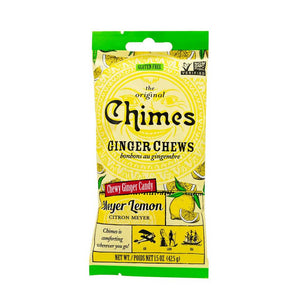 Chimes Ginger Chews - Lemon Confection - Nibblers Popcorn Company