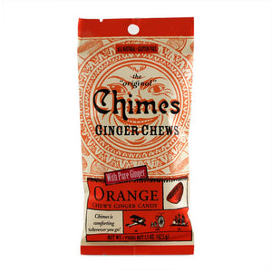 Chimes Ginger Chews - Orange Confection - Nibblers Popcorn Company