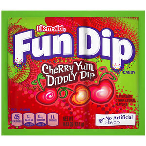 Fun Dip - Cherry Yum Confection - Nibblers Popcorn Company