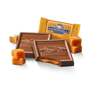 Ghirardelli Squares - Milk Chocolate Caramel Confection - Nibblers Popcorn Company
