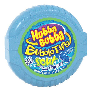 Hubba Bubba Bubble Tape - Sour Blue Raspberry Confection - Nibblers Popcorn Company