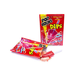 Pop Rocks - Sour Strawberry Dips Confection - Nibblers Popcorn Company