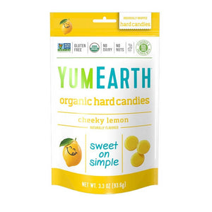 Yum Earth Organic Candies - Lemon Confection - Nibblers Popcorn Company