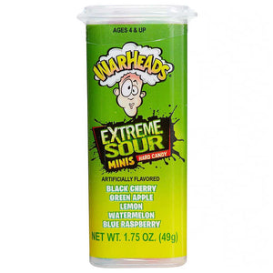 Warheads Mini Xtreme Sour Hard Candy Confection - Nibblers Popcorn Company