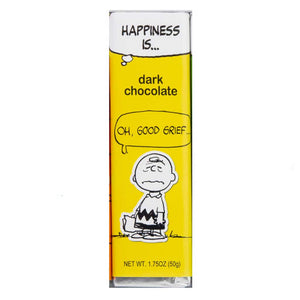 Peanuts Bar - Charlie Brown - Dark Chocolate Confection - Nibblers Popcorn Company