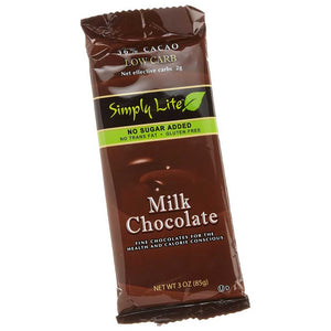 Simply Lite Milk Chocolate Bar Confection - Nibblers Popcorn Company