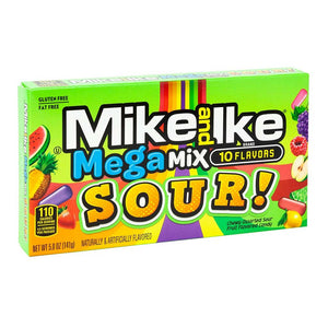 Mike & Ike Sour Mega Mix Theaterbox Confection - Nibblers Popcorn Company
