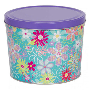 Flower Blossoms Tin Gift - Nibblers Popcorn Company