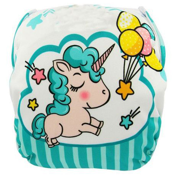 baby-swim-diapers-reusable-waterproof-cloth-pool-pants-adjustable-swim-nappies-balloon-unicorn
